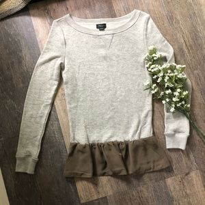 Anthropologie Deletta Grey Sweatshirt